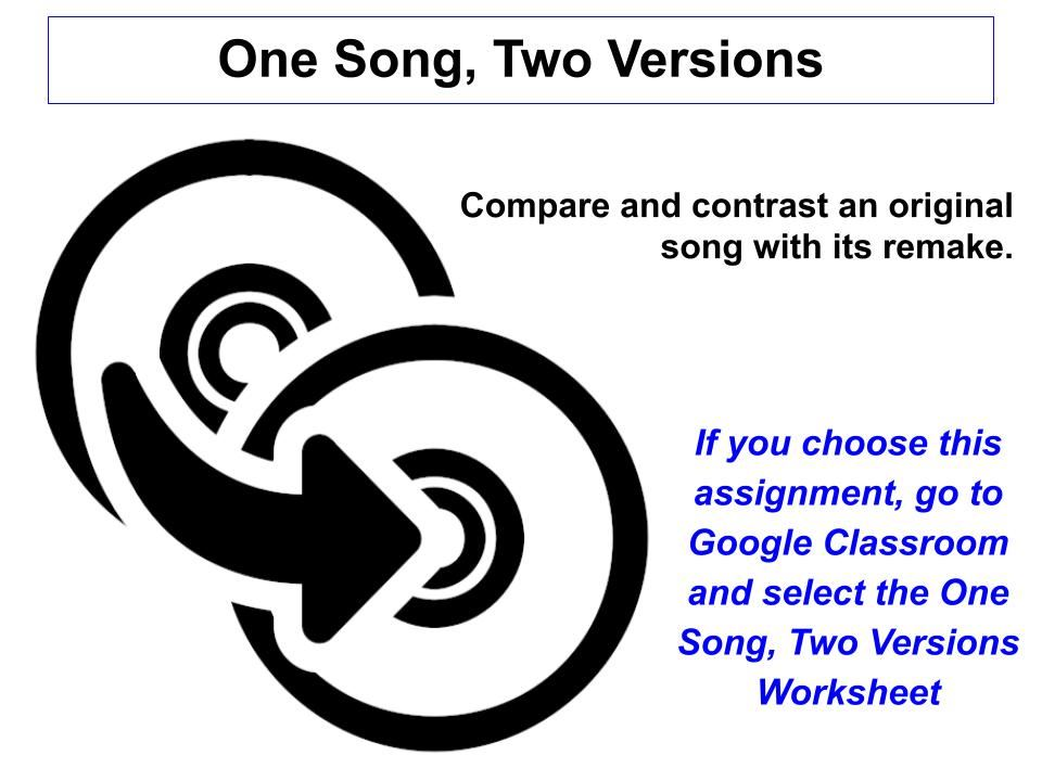 One Song, Two Versions jpg